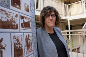 Susan Stryker, the new director of the UA's Institute for LGBT Studies. Stryker has served in visiting faculty positions at institutions that include Harvard University, University of California, Santa Cruz and Vancouver's Simon Fraser University in Vancouver. (Photo credit: Beatriz Verdugo/UANews)
