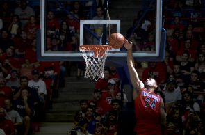 McKale Memorial Center was packed for the annual Red-Blue Game. (Photo by Patrick McArdle/UANews)