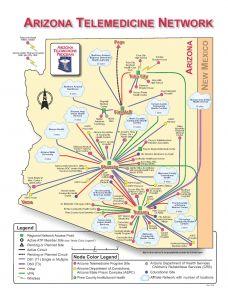 The Arizona Telemedicine Program links 70 communities, at 160 sites.
