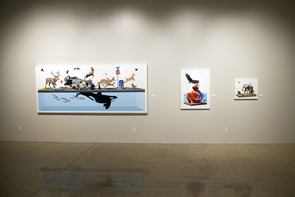 One of the most popular School of Art gallery exhibition as of late was a showing of work by American artist Josh Keyes. (Photo credit: Brooke Grucella)