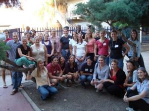 2008 UA Peace Corps Fellows end of year photo.