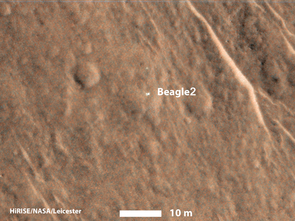 HiRISE image of the Beagle 2 landing site.