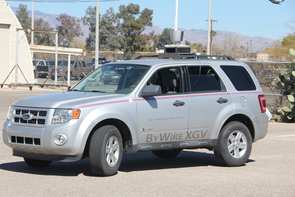 The UA's Cognitive and Autonomous Test vehicle, or CAT vehicle, is the driverless car at the center of a College of Engineering summer program.