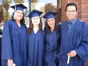 Chicano/Hispano Student Affairs graduates at a previous convocation ceremony.