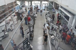 Students in the College of Architectire, Planning and Landscape Architecture display their work.