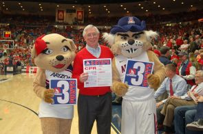 Dr. Kern with Wilma and Wilbur.