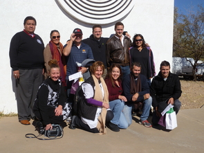 Some students in the program took a field trip to the Tohono O'odham Nation. (Photo courtesy of Melissa Tatum)