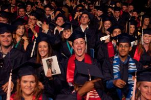 December graduates who wish to participate in the ceremony are invited to RSVP for themselves and their guests to attend the Dec. 17 Winter Commencement ceremony. (Photo credit: Norma Jean Gargasz/UANews)