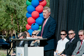Dr. Stuart D. Flynn, dean of the UA College of Medicine-Phoenix, during the grand opening ceremonies on Oct. 5.