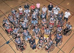 2010 Disabled Vets Sports and Wellness Camp participants along with UA staff and athletes.