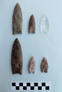 Clovis points are the signature weapon used by the earliest well-defined group of hunter-gatherers in North America. (Photo: Guadalupe Sanchez)