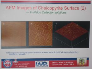 (Click to enlarge) Nano-scale images of a chemical's positive effects on copper particles show widespread bubbling, which enables the copper to pop to the surface and be collected.