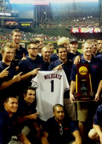 The UA baseball team was honored at Chase Field last weekend. (Photo by Blair Willis/Arizona Athletics)