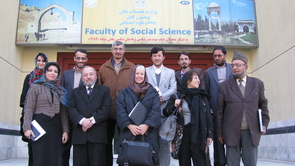 The UA's Suzanne Bott (front row, third from left) recently visited Kabul University with colleague Atifa Rawan (front row, fourth from left).