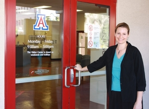 Heather Lukach has been director of the UA Visitor Center since 2003 and has overseen changes in its location as well as its programs. (Photo by Shelley Shelton/University Communications)