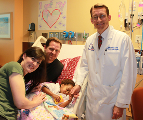 Three-year-old Mary Olivia Bingham received a new heart at UAMC.