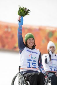 Nichols, a UA alumna, won the silver medal in the women's alpine skiing downhill competition. (Photo credit: USOC/Joe Kusumoto)