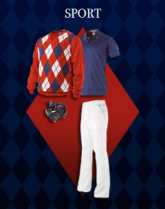 """This is the UA-themed outfit Poulter will wear at the Accenture Match Play Championship if it wins the """"Dress Ian"""" competition that he has on Facebook."""
