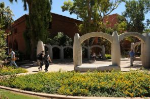 Located between Centennial Hall and the Arizona State Museum's exhibit gallery site, the Women's Plaza of Honor celebrates women have made significant contributions to the history of Arizona. (Photo credit: Norma Jean Gargasz/UANews)