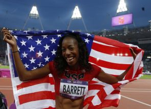 UA student-athlete Brigetta Barrett won a silver medal in the high jump. (Photo by Phil Noble/Reuters)