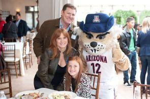 Wilbur T. Wildcat joined the tour in Nogales, Ariz. last week.
