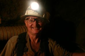 """John R. M. """"Ros"""" Hill is director of the San Xavier Mining Laboratory and a professor of practice in the department of mining and geological engineering at the UA. (Photo courtesy of John Hill)"""