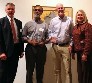 Allen and Hart with Saumya Debray and Richard Snodgrass, winners of the Catapult Award for Information Technology.