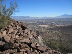 The city of Tucson seen from Tumamoc Hill. (Photo credit: Pamela Pelletier/UA College of Science)
