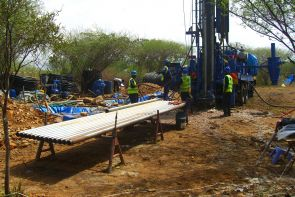 An approximately 750-foot long core was collected at the Tugen Hills, Central Kenya study site. This core will provide a record of climate and environmental conditions for central Kenya covering the period from about 3.5 to 2.5 million years ago. (Photo courtesy of the Hominin Sites and Paleolakes Drilling Project)