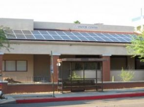 The selected contractor, Technicians for Sustainability, is the same company that installed solar panels on the UA Visitor Center.