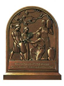 The World Food Prize Foundation Borlaug Medallion, awarded recently to land-grant universities including the UA.