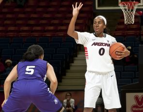 The UA's Davellyn Whyte has been drafted into the WNBA. (photo courtesy of Arizona Athletics)
