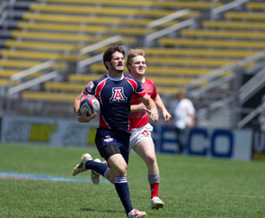 Dave Sitton, head coach for Arizona Rugby, said the team emphasizes athletic prowess and academic achievement. (Photo credit: Rodger Elkins)