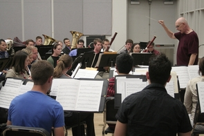 The UA Wind Ensemble performs under the direction of Gregg I. Hanson, a UA music professor and director of bands.