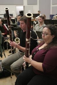 Bassoonists Daniel Hursey and Cassandra Reid Bendickson are both graduate students in the UA School of Music.