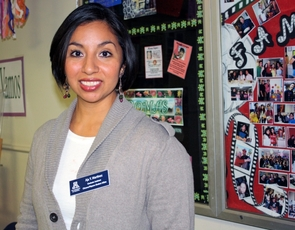 After graduation, Aja Martinez plans to seek an assistant professorship at a university where she can continue her efforts toward increasing access, retention and participation of diverse groups in higher education. (Photo credit: Beatriz Verdugo/UANews)