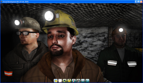 """Fire in an underground mine can be terrifying. John R. M. """"Ros"""" Hill and Leonard Brown's interactive simulations are designed to prepare miners for the difficult decisions they may face in the event of an underground emergency. (Image courtesy of Leonard Brown)"""