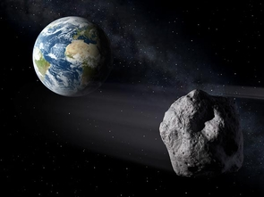 Artist's impression of asteroid 2012 DA14 as it whizzes past Earth the day after Valentine's Day. (Illustration: NASA)