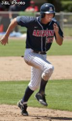 Outfielder Bobby Brown will be honored on May 26 during a pre-game ceremony for UA seniors. Fireworks on Friday and half-off on assorted items from the concession stands await fans on May 27 during a three-game series that will end the regular season. (Photo courtesy of Arizona Athletics)