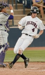 The Wildcats will honor four seniors in their final home series; First baseman Josh Garcia, catcher Jacob Meskin, infielder Bryce Ortega and outfielder Bobby Rinard-pictured above. (Photo courtesy of Arizona Athletics.)