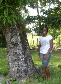 Master's graduate Chandra Jennings-Jackson while conducting research in Jamaica.