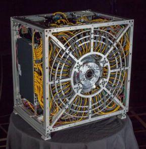 The gigapixel camera prototype. (Photo by Duke University Imaging and Spectroscopy Program)