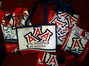 """UA staff member Lisa Comella, who began turning plastic bags into products in 2010, will be supported by the Green Fund to run workshops to train UA community members to do the same. """"Most plastic bags are recycled to make, you guessed it, more plastic bags,"""" Comella said. """"With plastic bags, it's just a vicious cycle. It seems to me that repurposing them instead of recycling them to make more has more impact and is an incredibly positive way to deal with this very prevalent waste stream."""
