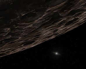 Our distant sun twinkles in this artist's conception of a distant Kuiper Belt Object. (Illustration: NASA/JPL)