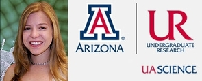 Melissa Revelle, UA senior and 2009 Excellence in Undergraduate Research Award winner.