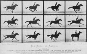 """Eadweard Muybridge's famous """"Horse in Motion"""" marked the beginning of high-speed photography. Ultra-fast laser light pulses like those used in this research essentially follow the same idea."""