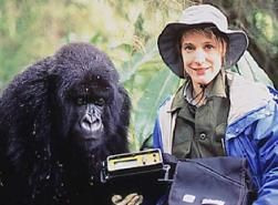 Netzin Steklis and primate friend. (Photos courtesy Dieter and Netzin Steklis)