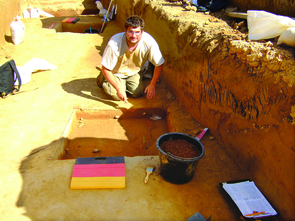 In 2009, archaeology graduate student Eric Heffter volunteered at a European Upper Paleolithic site in Breitenbach, Germany.