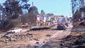 In the aftermath of the San Bruno gas pipeline explosion and fire it was discovered that the 28-foot faulty section of pipe, weighing about 3,000 pounds, landed about 100 feet away from the blast crater.