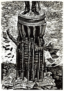 """Freedom of the Press"" by artist Leopoldo Méndez